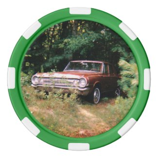 World's Most Haunted Car - The Goldeneagle - 1964 Poker Chips Set
