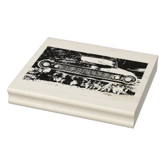 World's Most Haunted Car - The Goldeneagle - 1964 Rubber Stamp