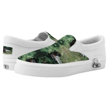 Beach Themed World's Most Haunted Car - The Goldeneagle - 1964 Slip-On Sneakers