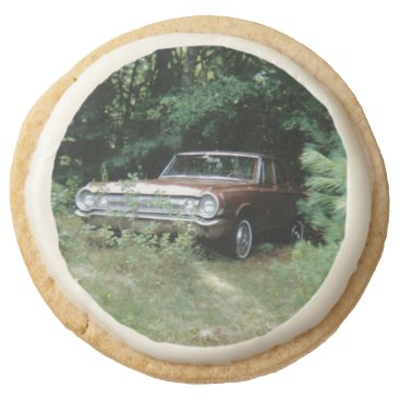 Beach Themed World's Most Haunted Car - The Goldeneagle Round Shortbread Cookie