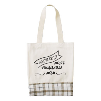 Worlds Most Huggable Mom - Mothers Day Tote Zazzle HEART Tote Bag