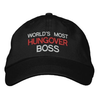 Worlds Most Hungover Boss Funny Office Party Embroidered Baseball Hat