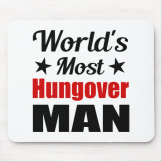 World's Most Hungover Man Funny Drinking Mouse Pad