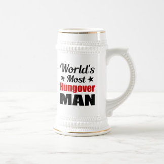 World's Most Hungover Man Funny Drinking 18 Oz Beer Stein