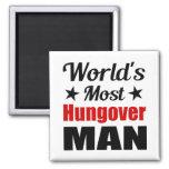 World's Most Hungover Man, Funny Fridge Magnet