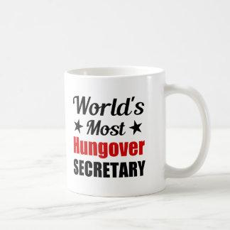 World's Most Hungover Secretary Funny Drinking Coffee Mug
