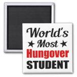 World's Most Hungover Student Fridge Magnet