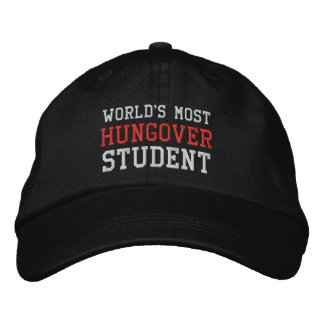 World's Most Hungover Student Funny Drinking Embroidered Hats