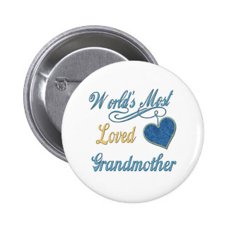 World's Most Loved Grandmother Button