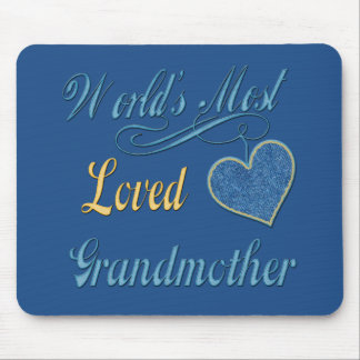 World's Most Loved Grandmother Mouse Pad