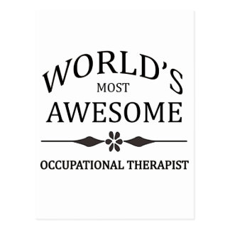 World's Most Occupational Therapist Postcard