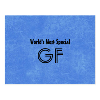 World's Most Special Godfather Blue Background Postcard