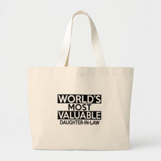 WORLD'S MOST VALUABLE DAUGHTER-IN-LAW JUMBO TOTE BAG