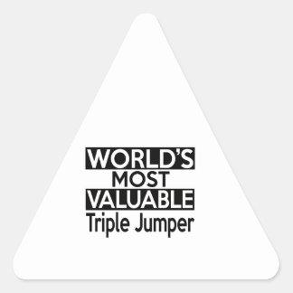 World's Most Valuable Triple Jumper Triangle Sticker