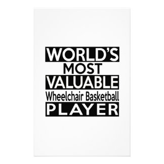 World's Most Valuable Wheelchair Basketball Player Stationery