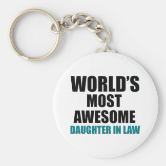 World's Most Wanted Daughter In Law Keychain