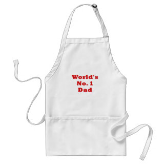 Worlds No.1 Dad Adult Apron
