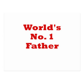 Worlds No.1 Father Postcard