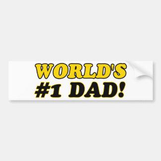World's number 1  dad bumper sticker