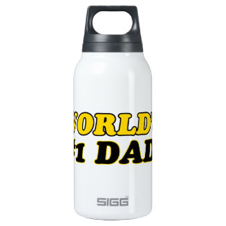 World's number 1  dad insulated water bottle