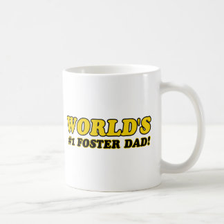 World's number 1 foster dad coffee mug
