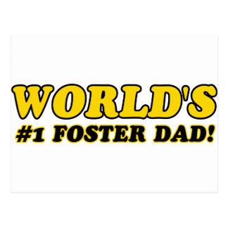 World's number 1 foster dad postcard