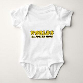 World's number 1 foster mom baby bodysuit