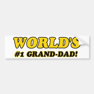 World's number 1 grand dad bumper sticker