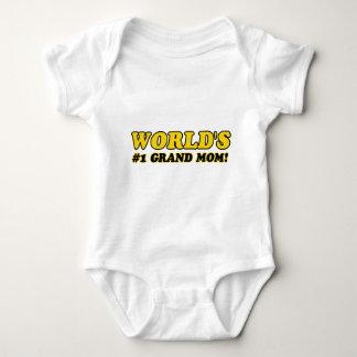 World's number 1 grand mom baby bodysuit