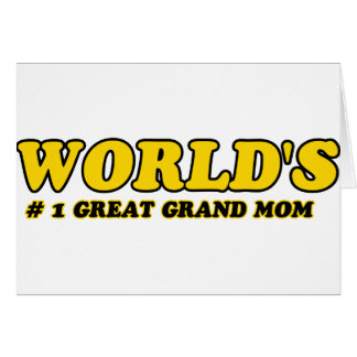 World's number 1 grand mom card