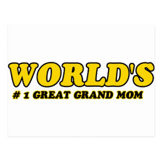 World's number 1 grand mom post card