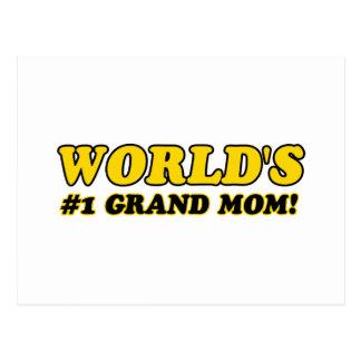 World's number 1 grand mom postcard