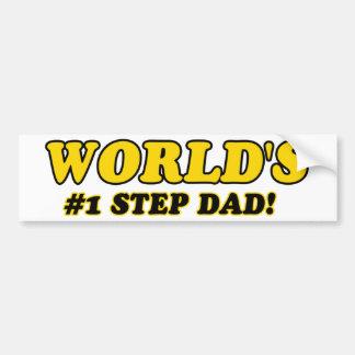 World's number 1 step dad bumper sticker
