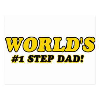 World's number 1 step dad post cards