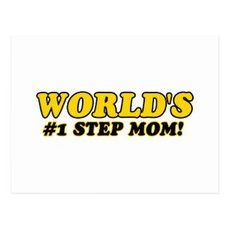 World's number 1 step mom postcard