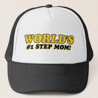 World's number 1 step mom trucker hat