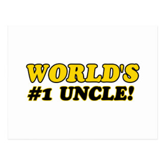 World's number 1 uncle post cards