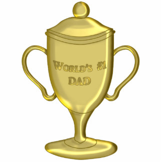 World's Number One Dad Championship Trophy Acrylic Cut Outs