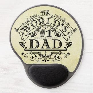World's Number One Dad Vintage Flourish Gel Mouse Pad