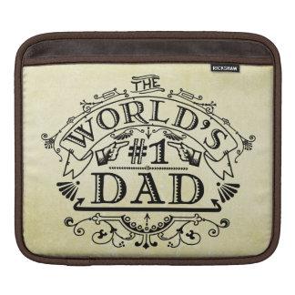 World's Number One Dad Vintage Flourish iPad Sleeves