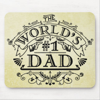 World's Number One Dad Vintage Flourish Mouse Pad