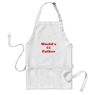 Worlds Number One Father Adult Apron