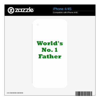 Worlds Number One Father Skin For iPhone 4S