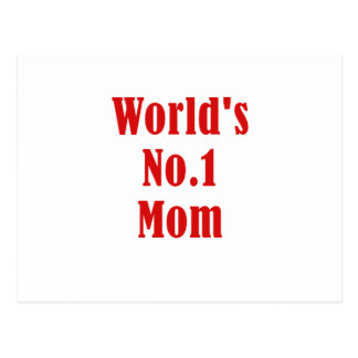 Worlds Number One Mom Postcard