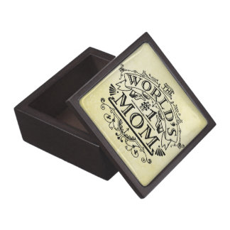 World's Number One Mom Vintage Flourish Gift Box
