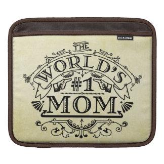 World's Number One Mom Vintage Flourish iPad Sleeve