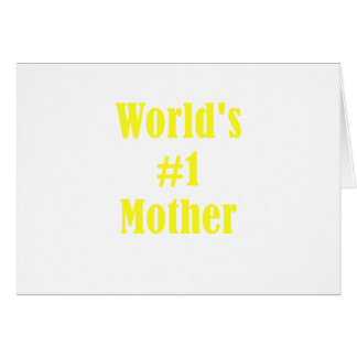 Worlds Number One Mother Card