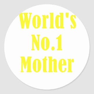 Worlds Number One Mother Classic Round Sticker