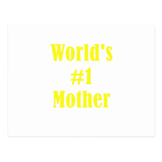 Worlds Number One Mother Postcard