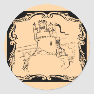 Worlds of Fantasy: Medieval Castle Classic Round Sticker